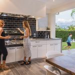 'Alfresco dining' was the inspiration behind this kitchen
