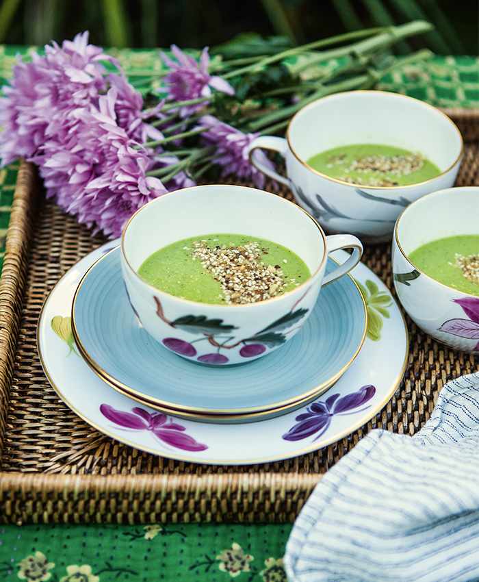 Alana Lowes spring recipes chilled pea soup
