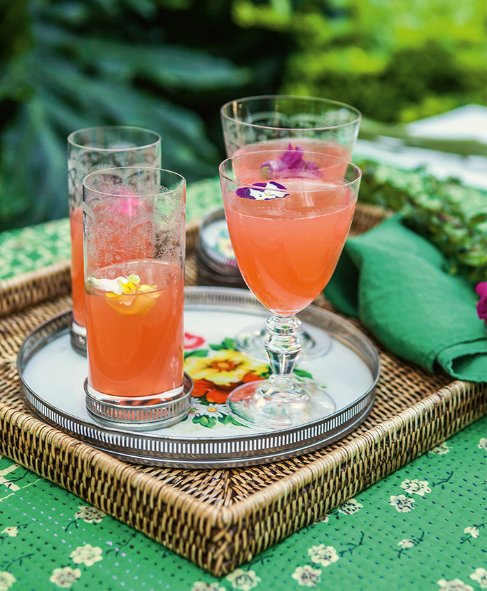 Alana Lowes spring recipes Lillet & Rose cocktail