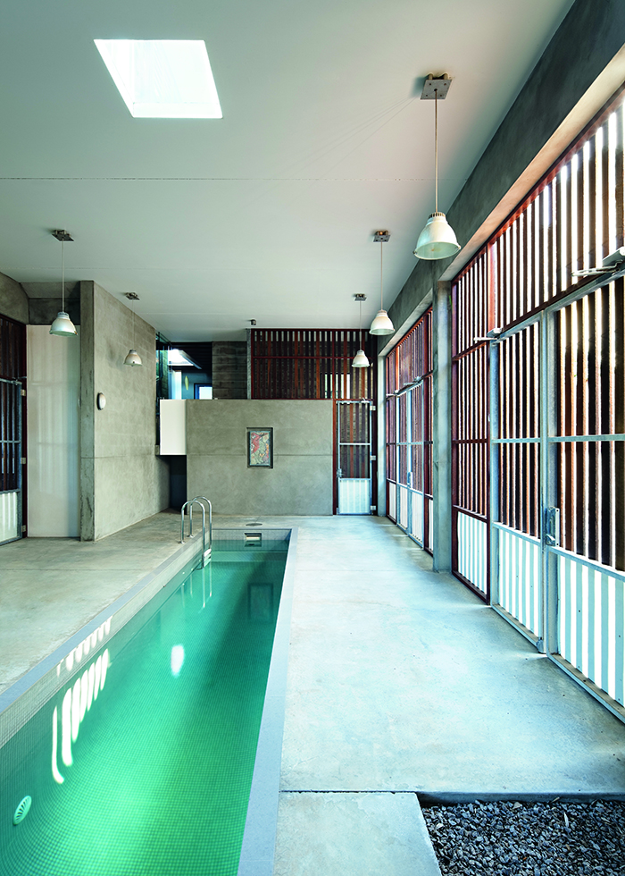Robert Riddel Redcliff home indoor swimming pool
