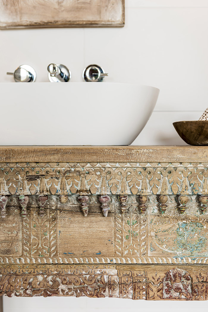 Melinda Boundy Designs antique India bench