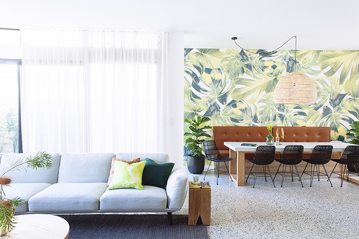 Welcome to the Jungle feature wall Cedar & Suede