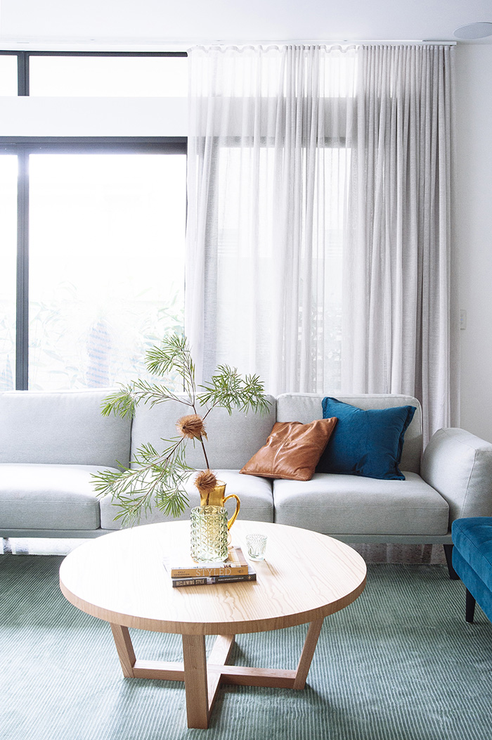 Contemporary lounge styled by Cedar & Suede