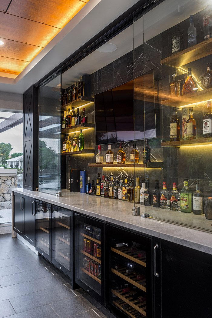 Enigma Interiors outdoor bar design