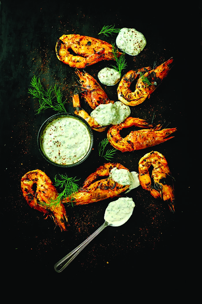 Spirit House The Cookbook Tandoori prawns