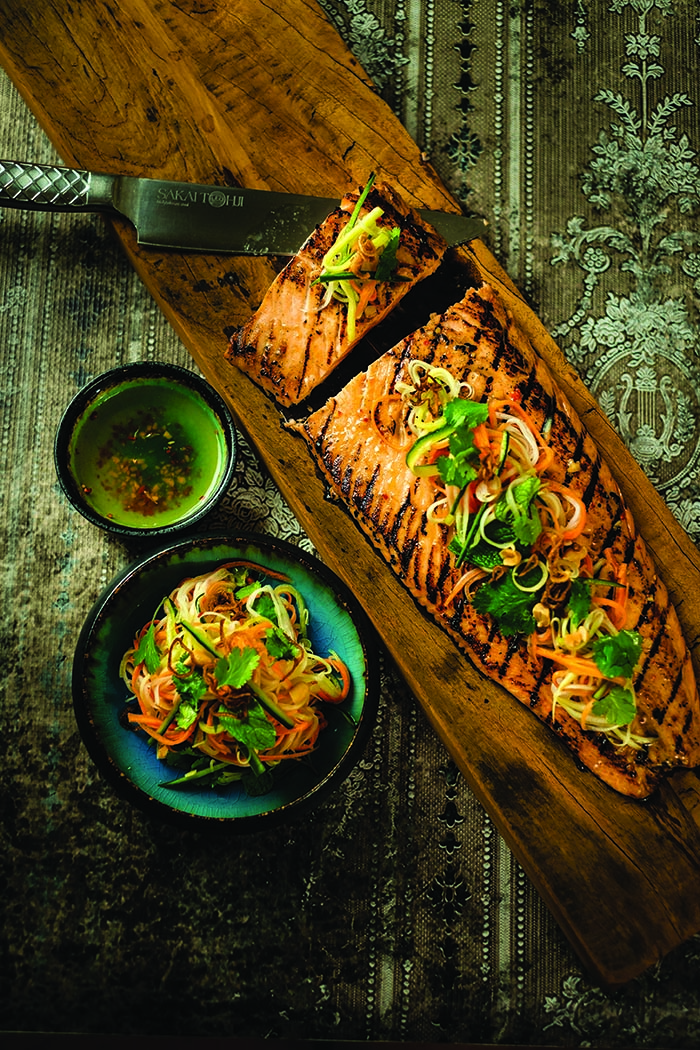 Spirit House The Cookbook chargrilled salmon