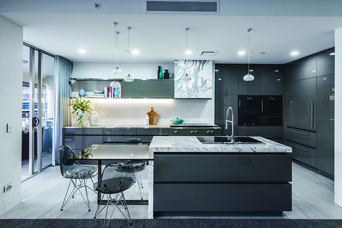 Darren James Interiors apartment kitchen