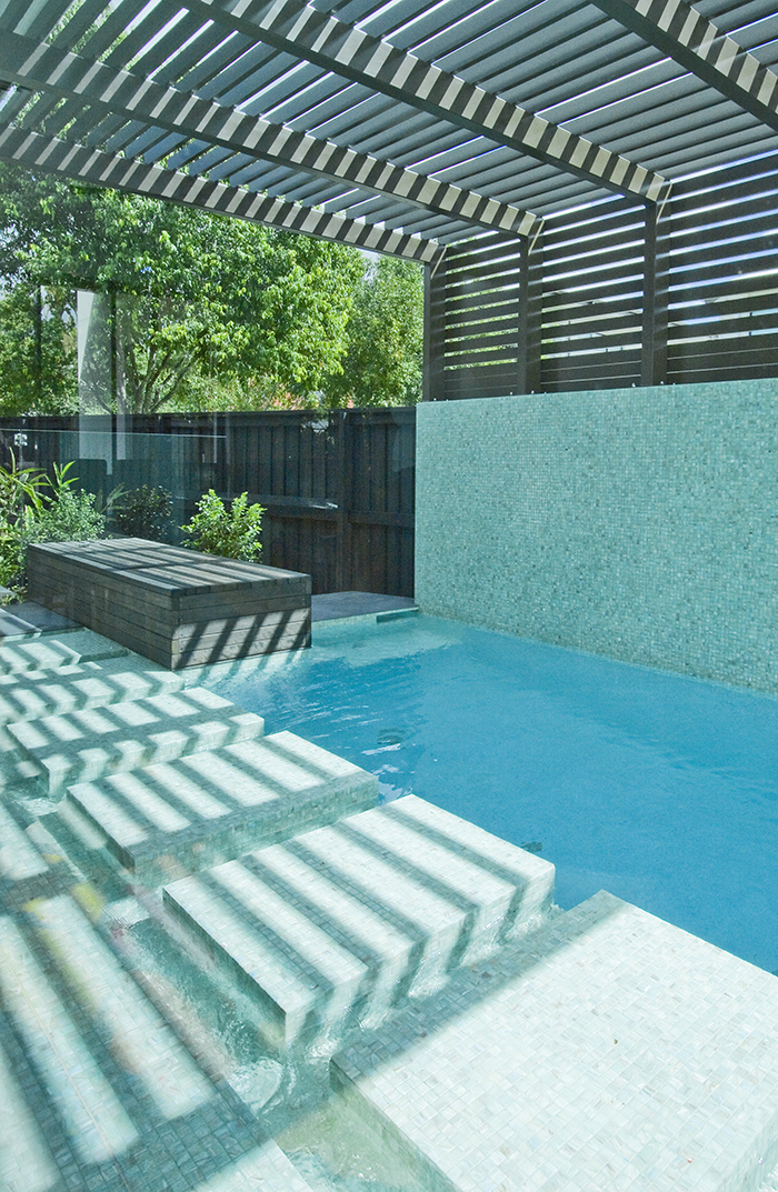 Argo Architects green tiled pool