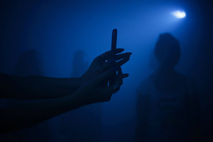 Kinly Grey, Blue 4 - Smoke Room, 2013, installation view. Image by Kinly Grey