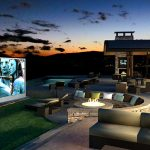 Creating a high tech outdoor entertainment zone