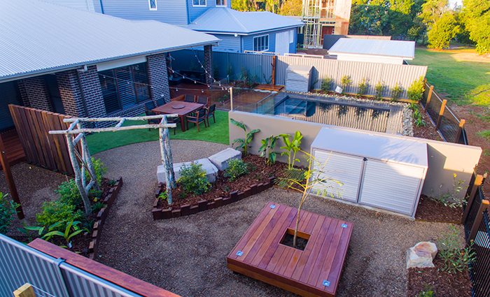 Residential 4 Category for projects valued between $100,001 and $200,000 Contemporary Landscaping - Buderim
