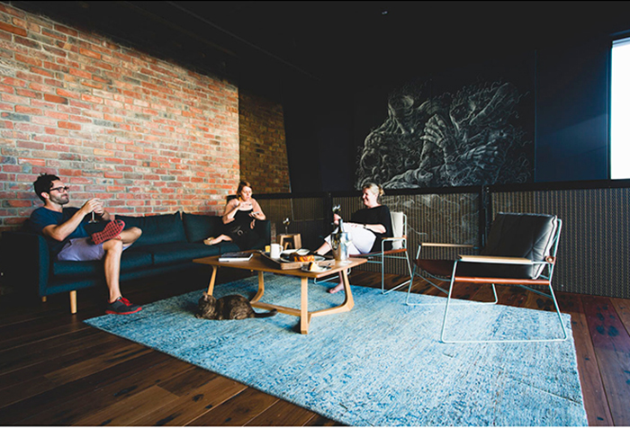 family in lounge room