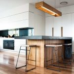 A modern kitchen design with natural elements is timeless