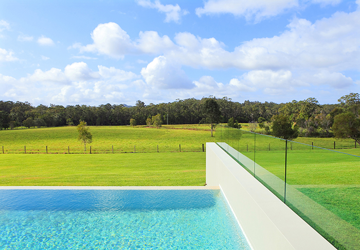 pool view of paddocks