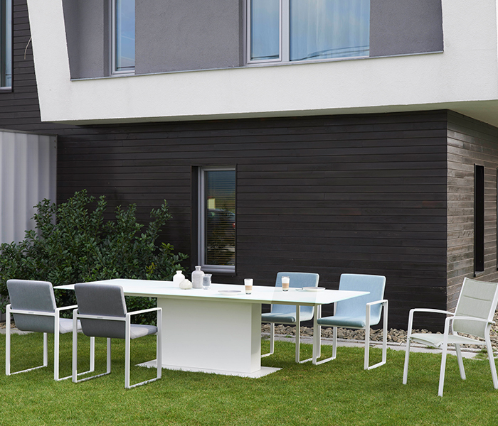 Designer furniture to transform your outdoor spaces  : Glass Table Verona Dining Chair from www.queenslandhomes.com.au size 700 x 600 jpeg 347kB