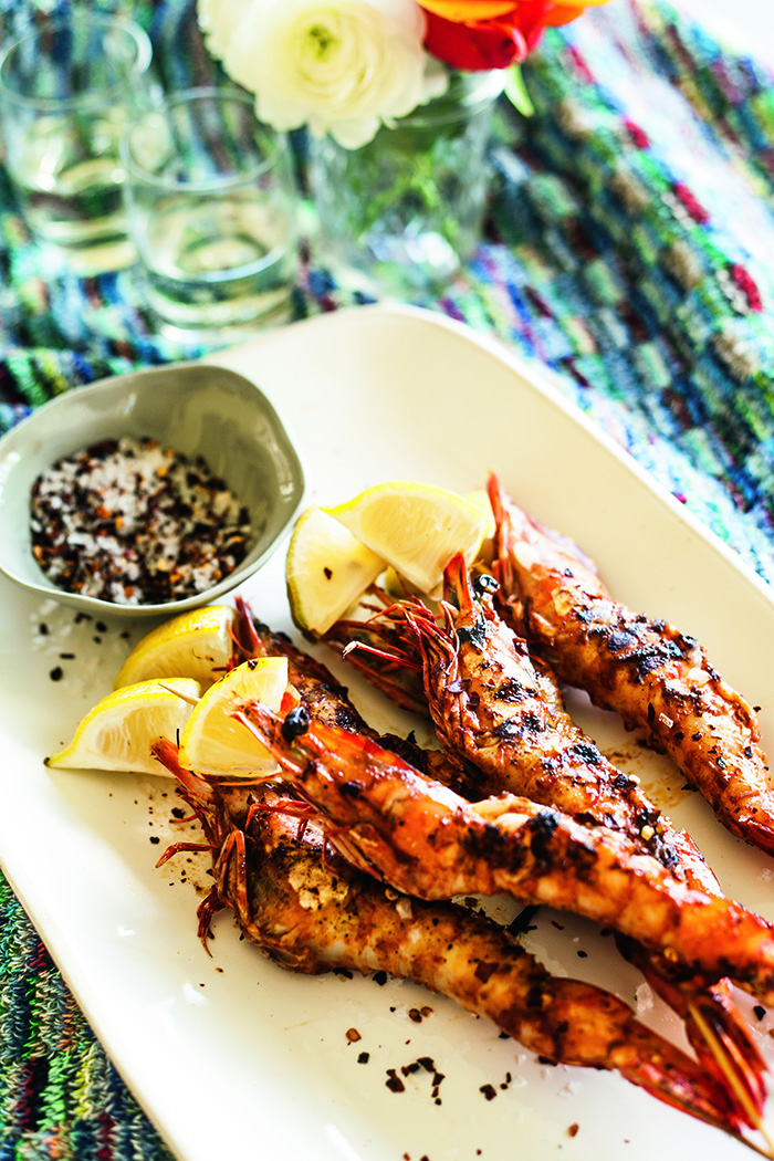 Smoked Paprika Grilled Prawns with Chilli Salt