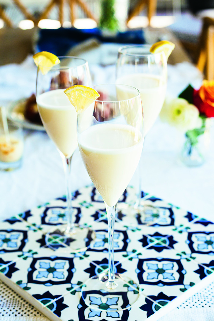 Sparkling Wine Lemon Sorbet