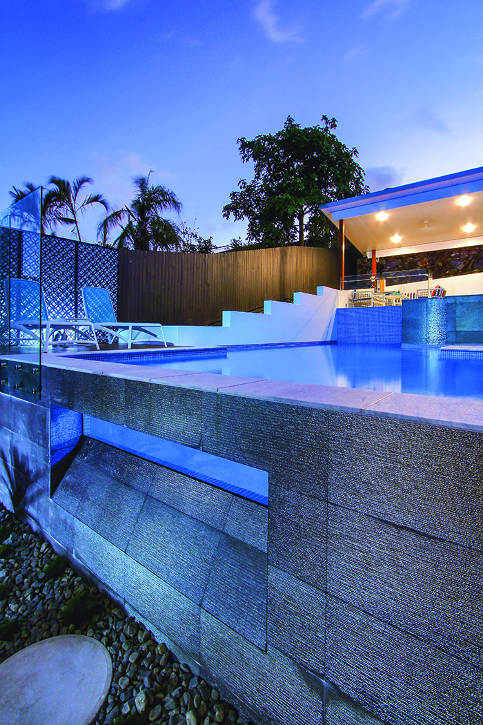 Majestic Pools glass wall