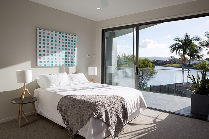 Maison Jardin master bedroom with views