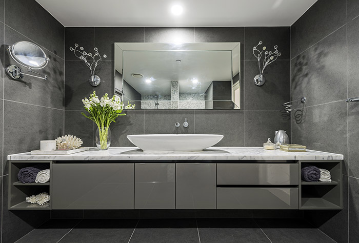 Darren James Interiors apartment bathroom