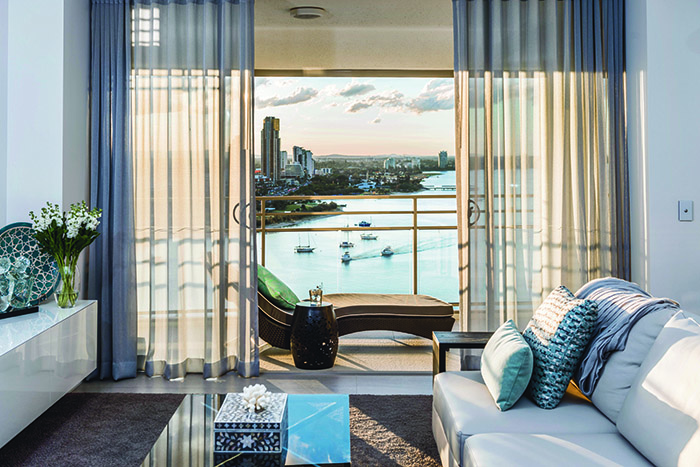 Darren James Interiors main beach apartment