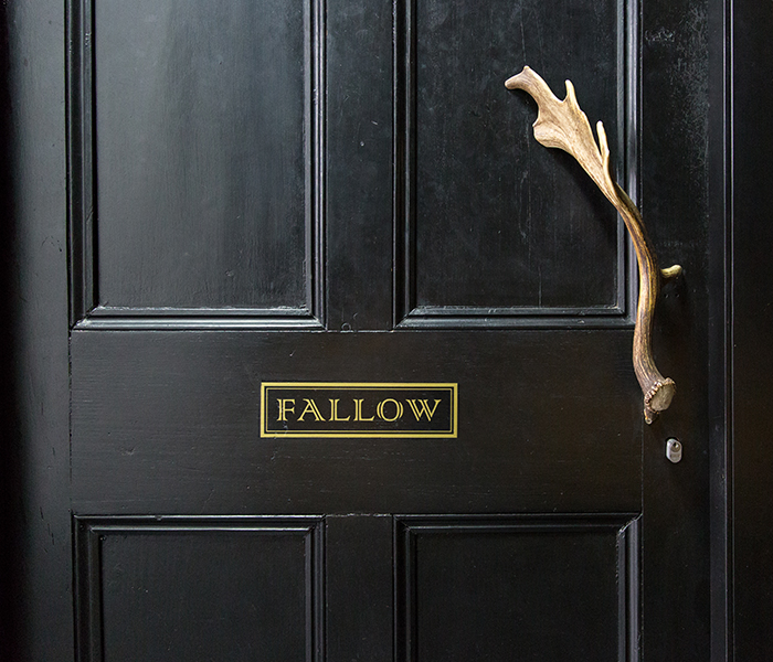 fallow, black door,