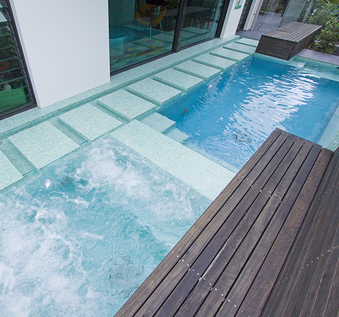 Argo Architects pool bisazza tiles