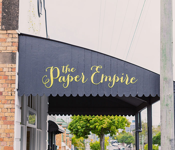 The Paper Empire: Brisbane, shopping, shopfront, fitout