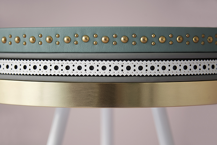 Living Edge_Bethan Gray_Three Colour Brogue Table Detail