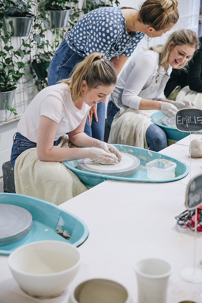 The Ceramic House pottery class