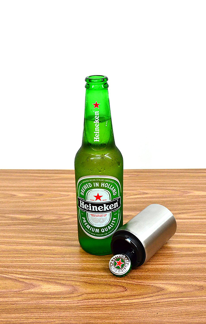 Automatic beer bottle opener