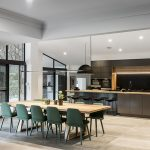 Take a look at the contemporary cool of this kitchen/dining space