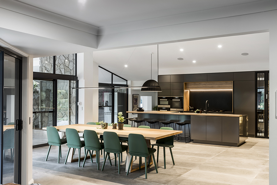 Darren James Interiors kitchen dining Queensland Homes 4