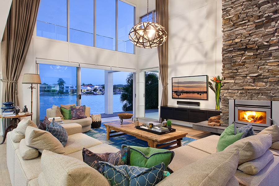 Queensland Homes Palm Interiors lounge