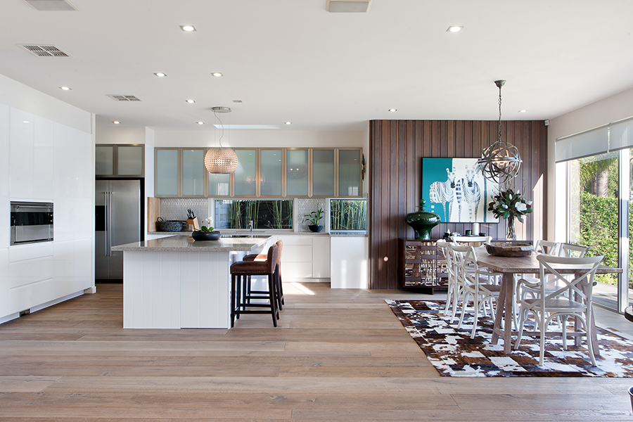 Queensland Homes Palm Interiors kitchen dining