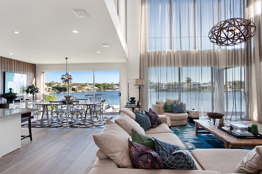 Queensland Homes Palm Interiors water views