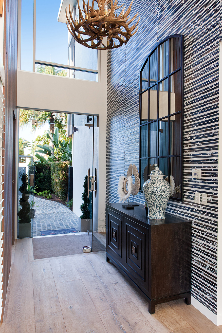 Queensland Homes Palm Interiors front entrance