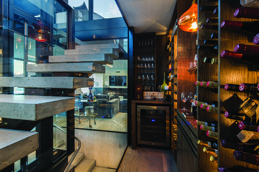 Di Henshall Design NZ home wine cellar
