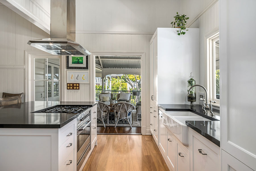 Style Kitchen by Design Queensland Homes indoor outdoor
