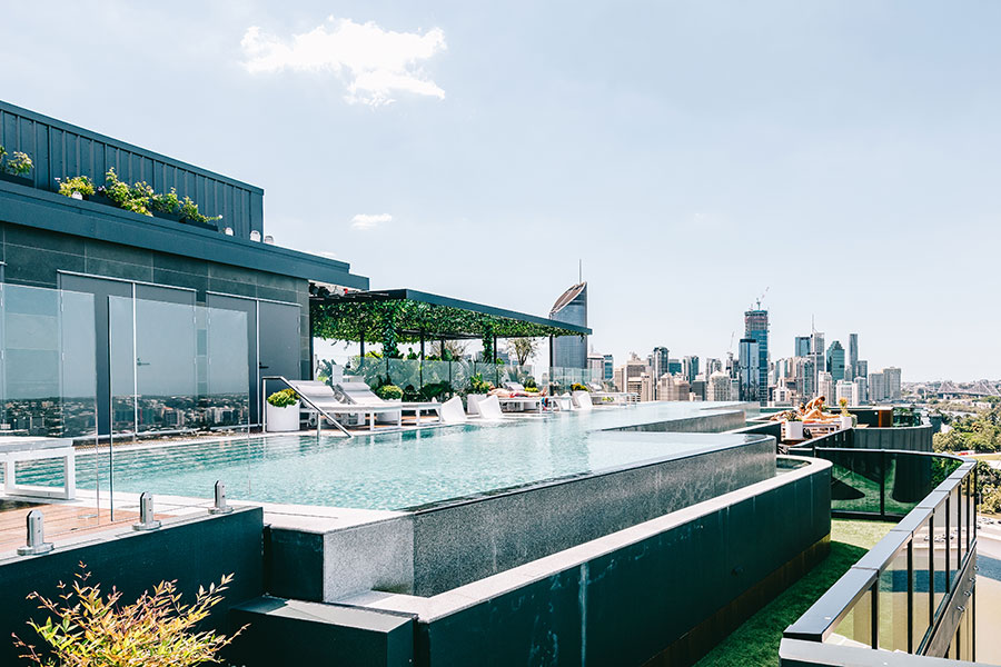 Oxley + Stirling rooftop pool