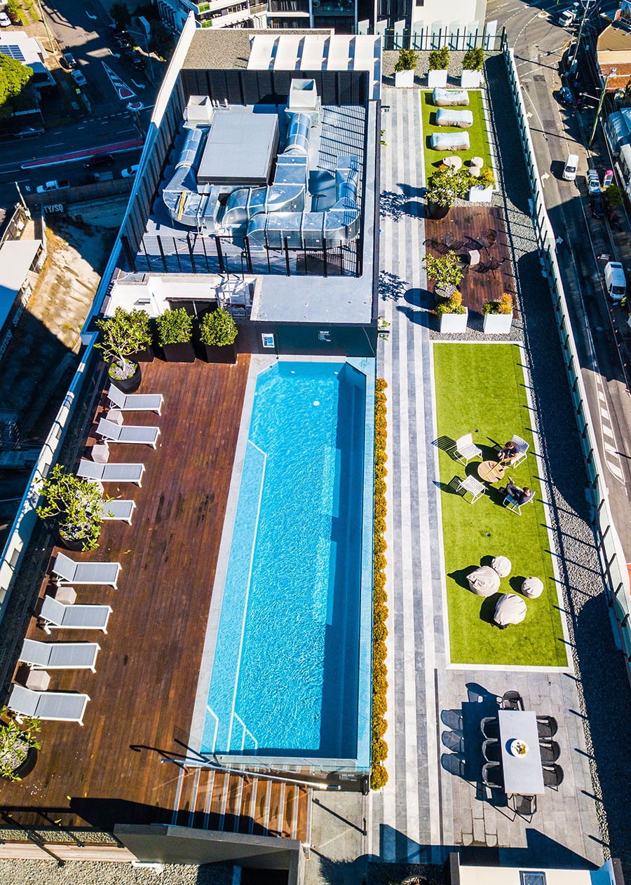 South City Square rooftop pool
