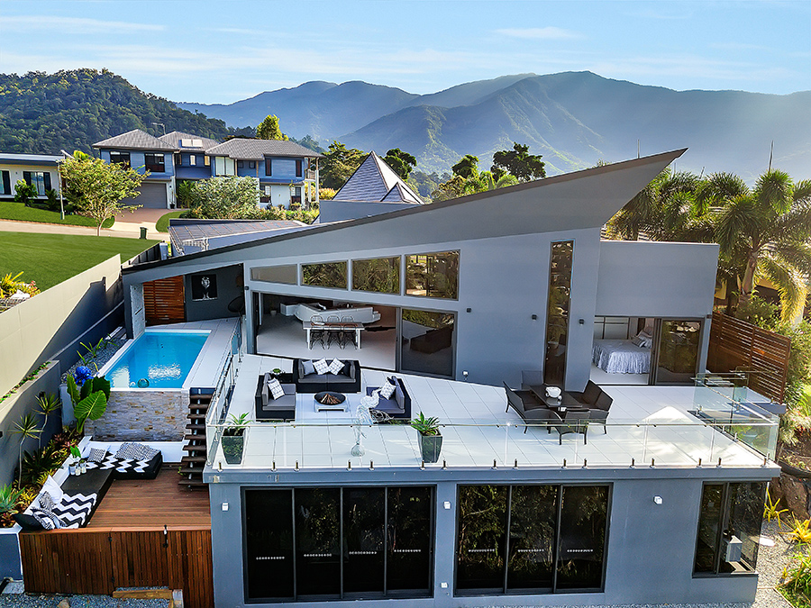 Neocon Homes Cairns home birds eye view
