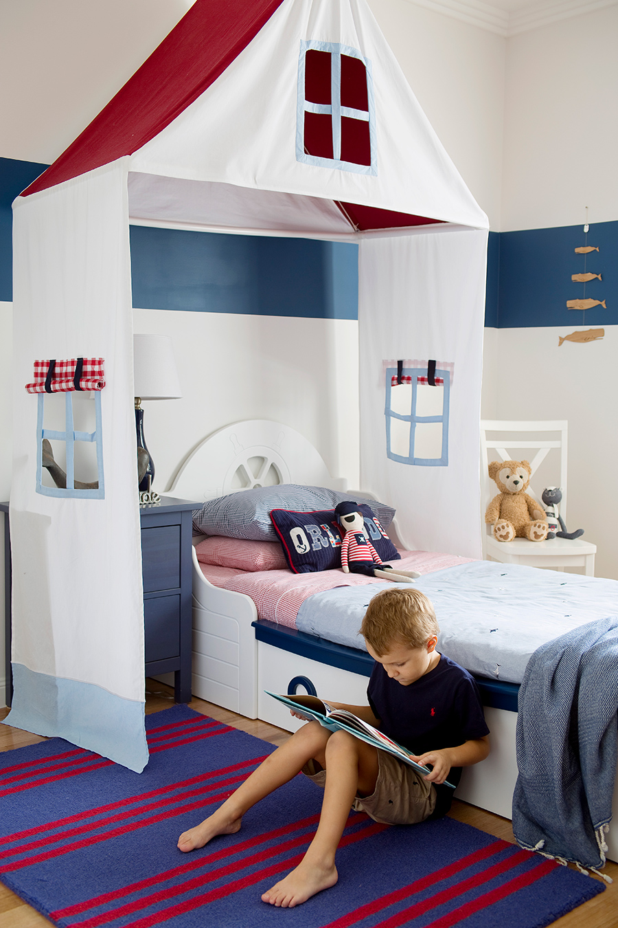 @mumlittleloves coastal home boy's bedroom