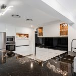 A designer kitchen with polished perfection