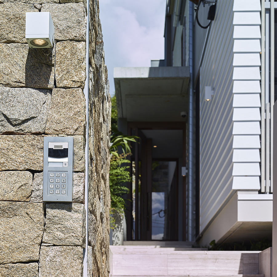Shaun Lockyer Architect and Electronic Living security gate