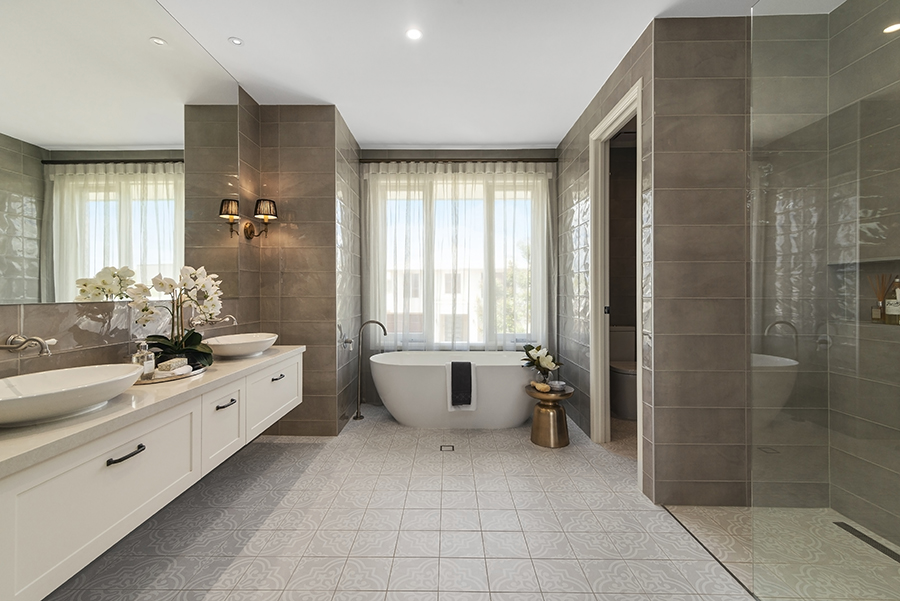Metricon Bayville Hamptons style home bathroom
