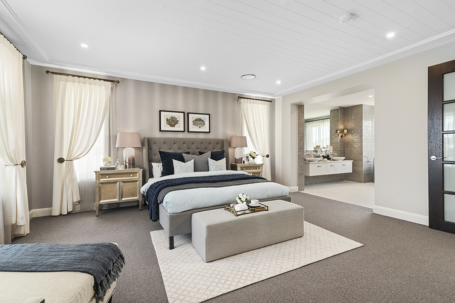 Metricon Bayville Hamptons style home master bedroom