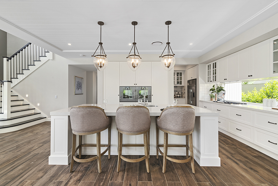 Metricon Bayville Hamptons style home kitchen dining