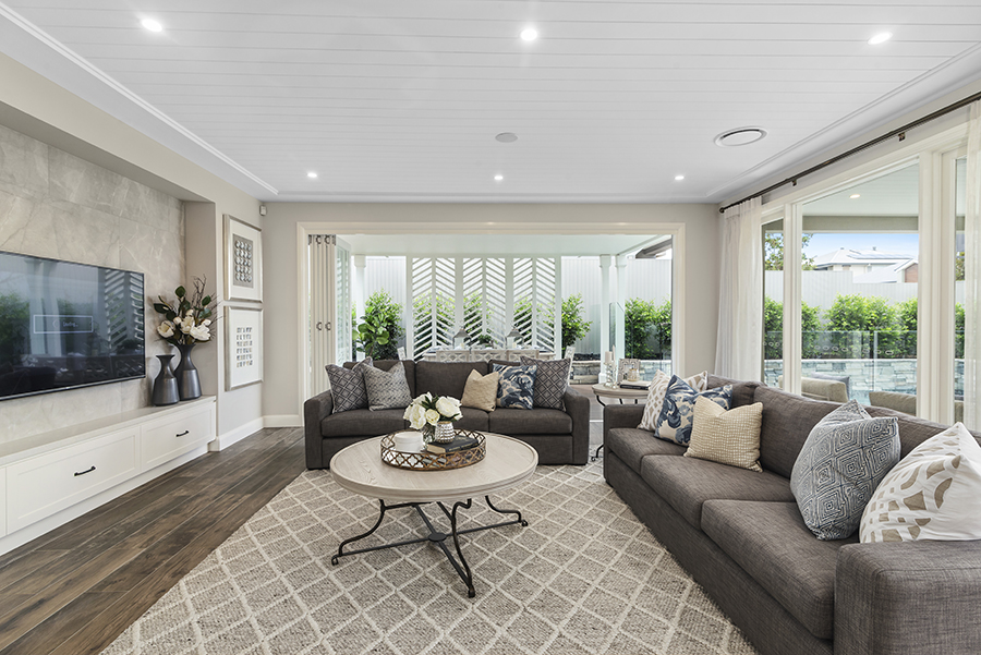 Metricon Bayville Hamptons style home lounge