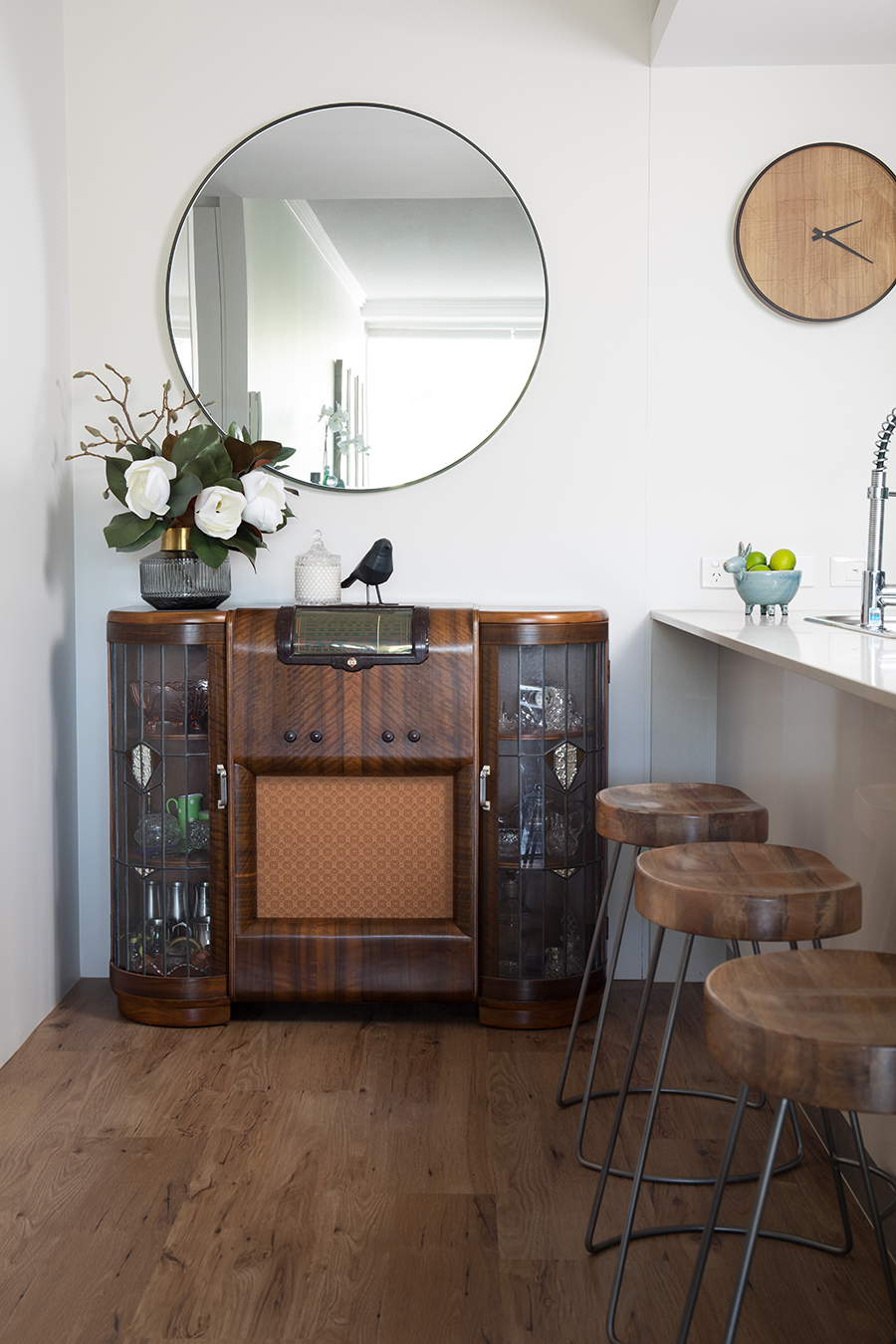 Ivy + Finch apartment interior design vintage furntiure